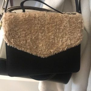 Faux fur small crossbody